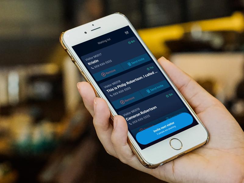Simple, text-driven waitlist dark mode covid-19 vaporware figma mobile