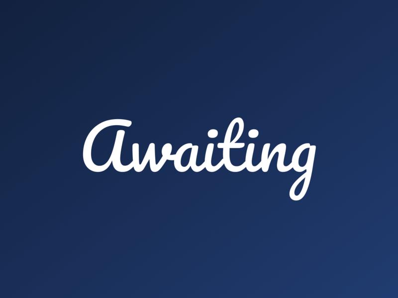 Awaiting.app logo brand identity vaporware logo
