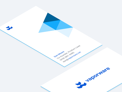 Vaporware® Business Cards isometric brand identity business card design