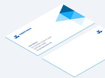Vaporware® Business Cards isometric brand identity business card design