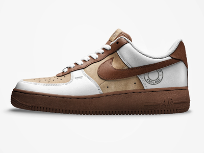 Burberry x Nike AF1 - 001 airforce nike burberry shoe design custom sneaker