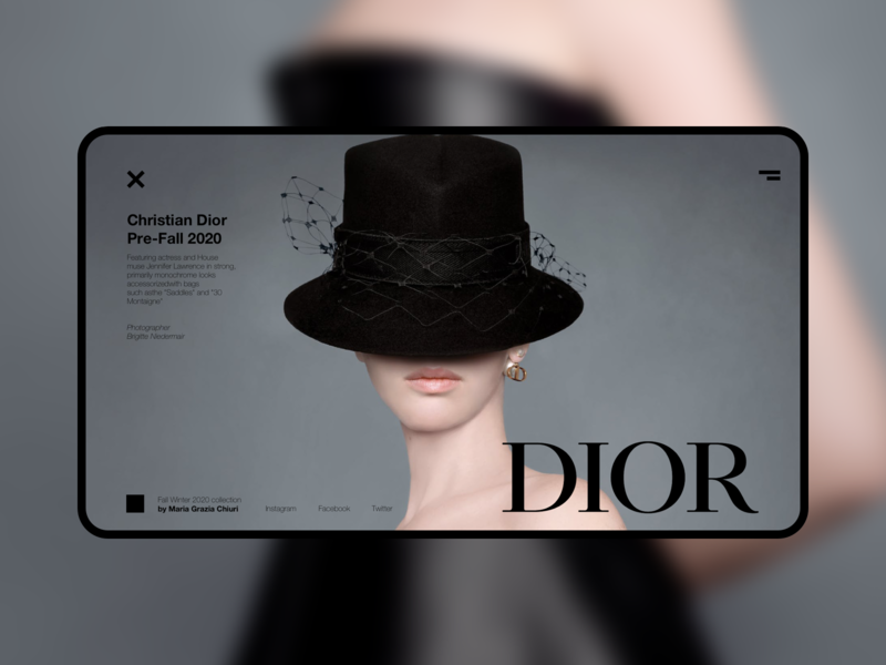 DIOR FW2020 — Design concept 003 design dior website webdesign fashion ui