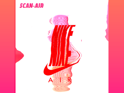 The Scan-Air color art scan sneakers design poster nike