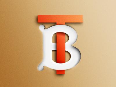Burberry monogram art logo artwork burberry thomas paper
