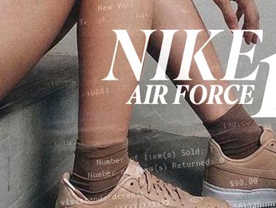 NIKE AIRFORCE ONE AD | OLD SCHOOL nike air scan typography oldschool poster nike