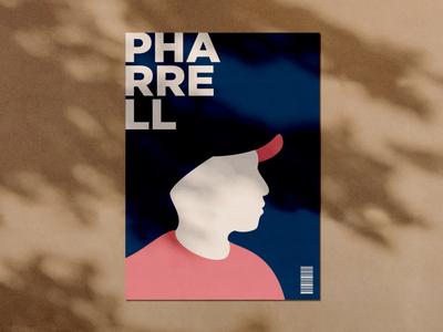 Minimalist poster - Pharrell (I) poster design illustration vector pharrell