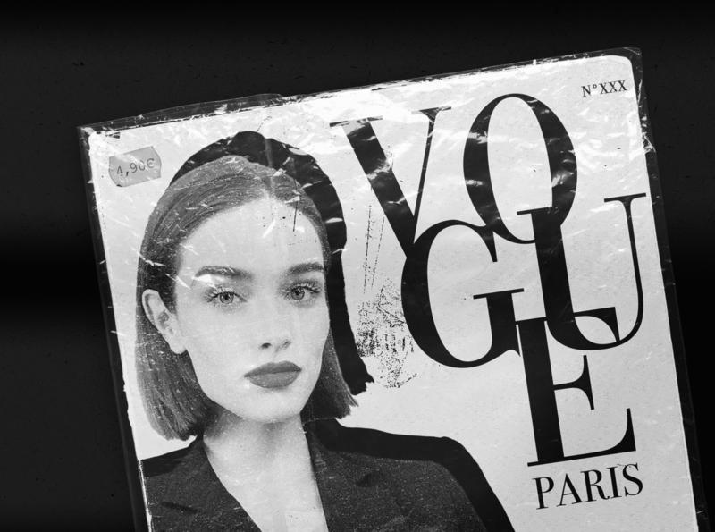 Vogue Unpublished - 002 fashion mixed media collage mode paris typeface graphicdesign magazine cover paris vogue
