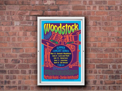 Poster for Woodstock Summer Concert Series