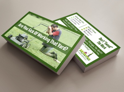 Mowing Co. Business Card