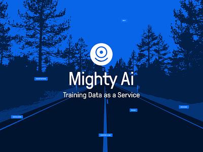 Mighty AI Visual Identity computer vision segmentation labels training data one-eyed robot pressura