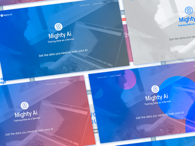Mighty AI Website Mockups