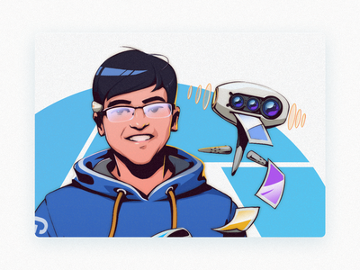 Tech-Hack theme portrait illustration series-Part drawing awards portrait hackathon illustraion graphic design illustration