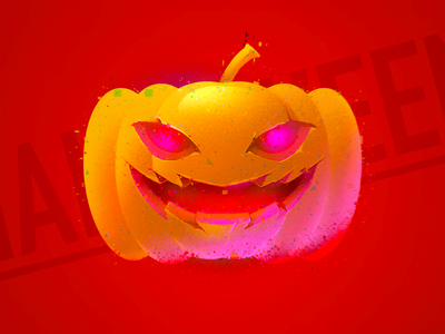 Pumpkin Head illustration hand drawn procreate pumpkin halloween