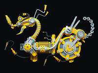 Original Inovation design of Chinese Traditional Patten-Dragon