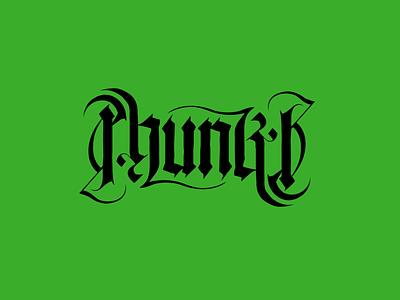 PhunkB Logotype phunkb ambigram branding design music hip hop typography logo koma