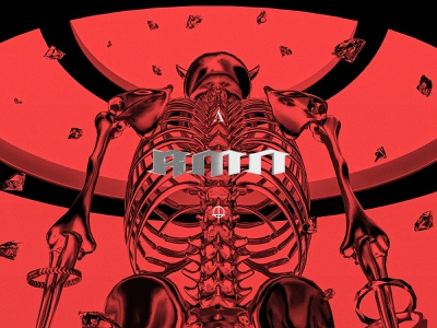 RMN artwork rmn azteca packaging music art direction design typography koma