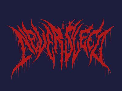 I Never Sleep hip hop lettering typography