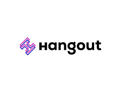Hangout tech branding design logo