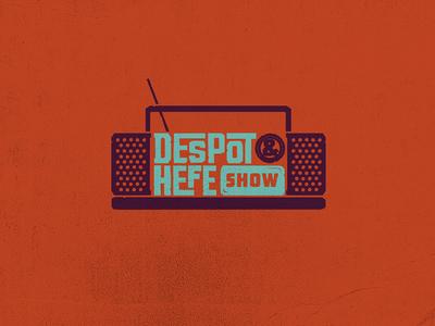 Despot & Hefe Show koma koma studio logo identity radio show despot hefe rock hardcore hip hop metal
