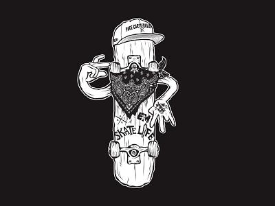 OG gangsta krack eroilor mafia illustration skate apparel urban koma studio koma
