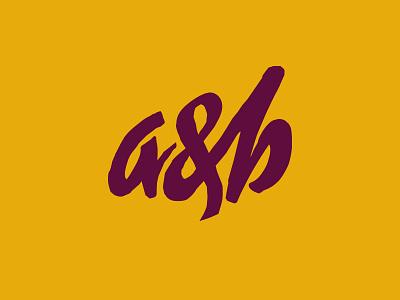 a&b monogram music ab monogram lettering koma studio koma