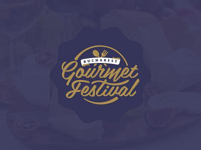 Gourmet Festival festival gourmet food lettering logo koma studio koma