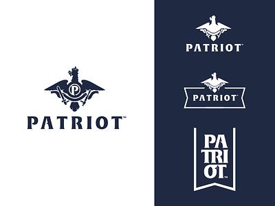 Patriot eagle patriot apparel lettering logo koma studio koma