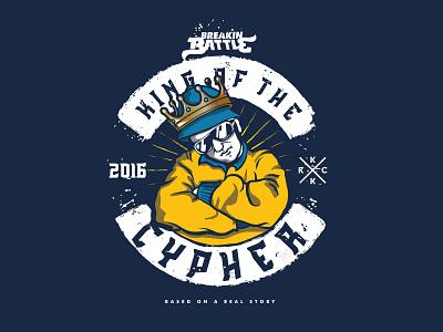 King Of The Cypher illustration king cypher apparel battle b-boy krack koma studio koma