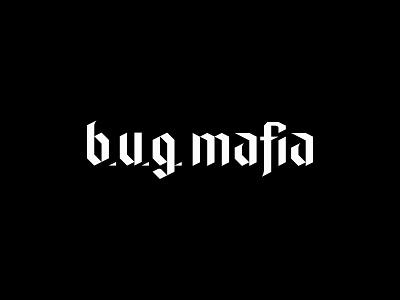 B.U.G. Mafia (logotype refresh) blackletter typography custom logotype romania hip hop koma studio koma bug mafia