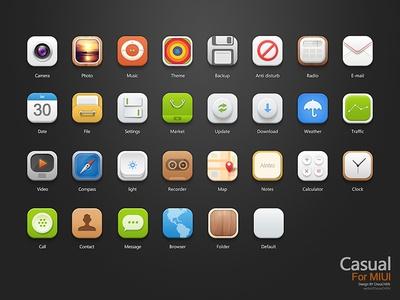 Casual-ICON icon casual theme