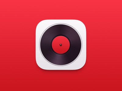 Music Player icon2 music player icon red