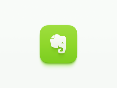 Evernote icon for iOS redesign ios icon evernote