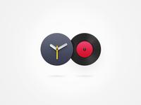 Music icon & Clock icon