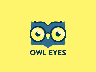 owl eyes logo by andy davies dribbble rh dribbble com Reading Comprehension On Owls owl learning login