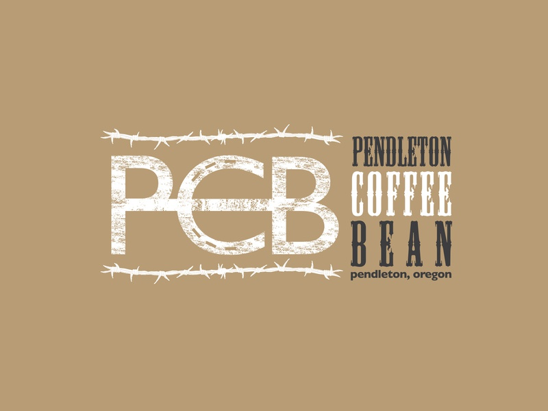 Pendleton Coffee Bean Logo typography logo branding vector design