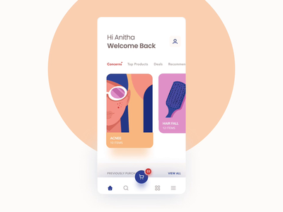 Ecommerce App / Animation minimal design clean illustration animation