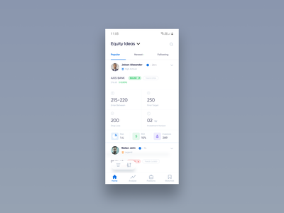 Trading App ux ui clean user interface minimal