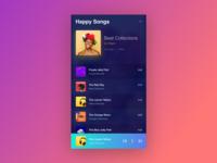 Music Player - Dark Version
