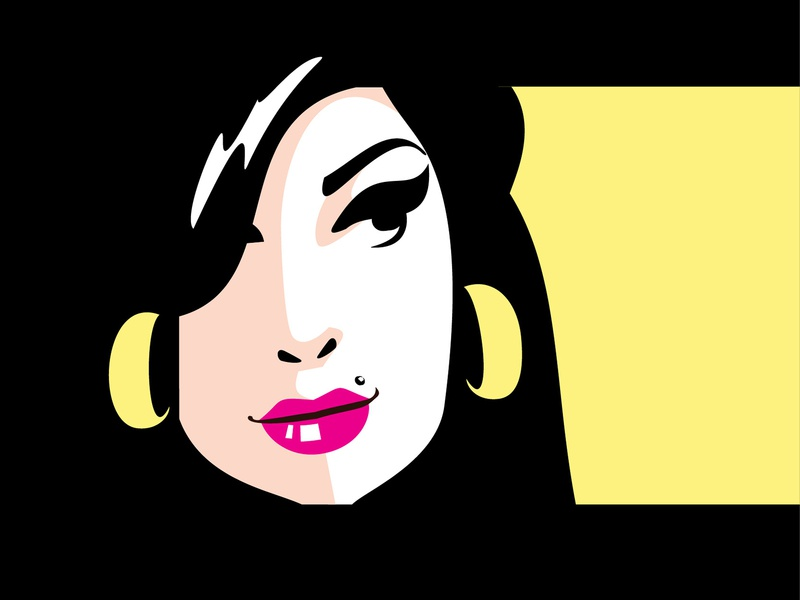 Amy Winehouse - poster portrait face illustraion editorial design editorial concept music icon poster character