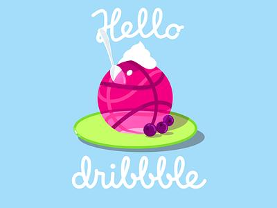 Dribble First Shot 01 cream sweet ball tasty illustration design jelly hello debut
