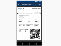 Daily UI Day 024 - Boarding Pass