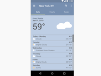 Daily UI Day 037 - Weather