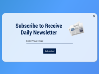 Daily UI Day 026 - Subscribe
