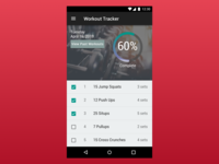 Daily UI Day 041 - Workout Tracker