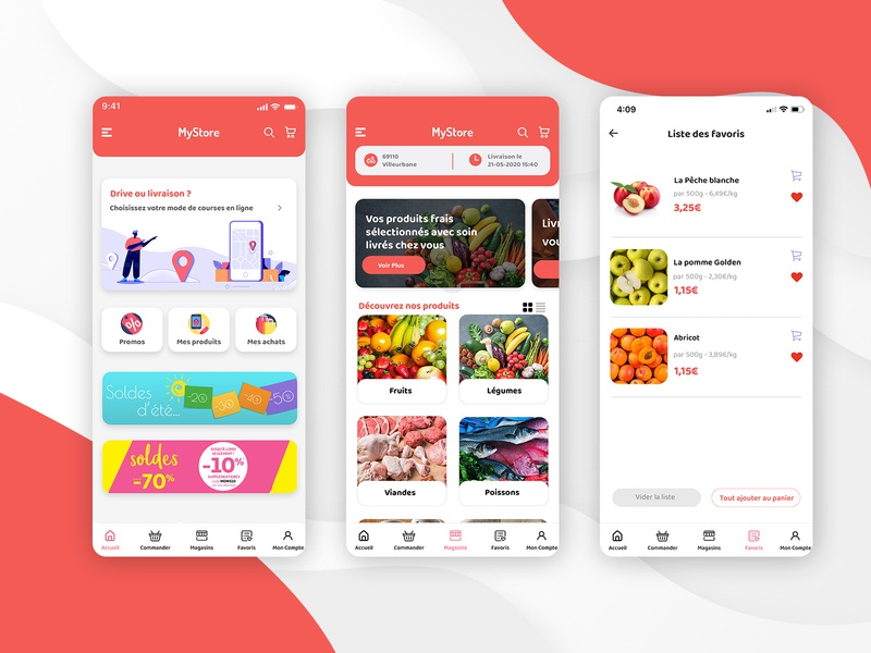 Grocery Store App Design