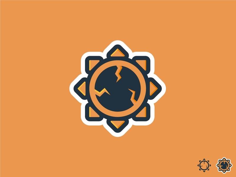 Broken Sun brand ux ui vector typography minimal marca logo lettering ilustración illustrator illustration identity icono icon diseño design clean branding art