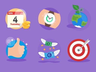 Cigs Counter App app ui illustration identity vector