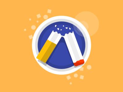 Cigs Counter Icon icon ui app vector illustration