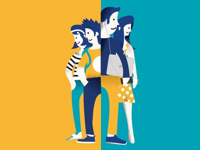 Generation z ui mobile iphone ios illustration flat application app