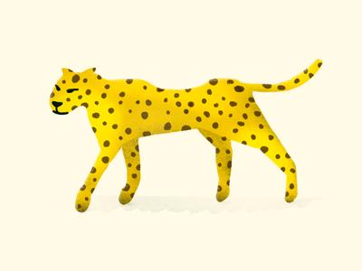 Ghepard texture scene nature illustration graphic drawn animal